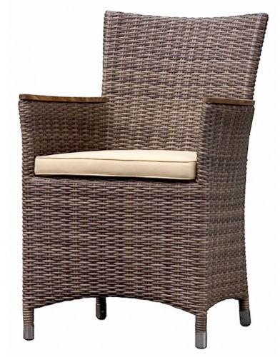 Leblon Raffles Wicker All Weather Dining Chair Teak Rests 1843 Buy Outdoor Furniture Garden Accessories Australia Leblon Chairs Outdoor Furniture Australia